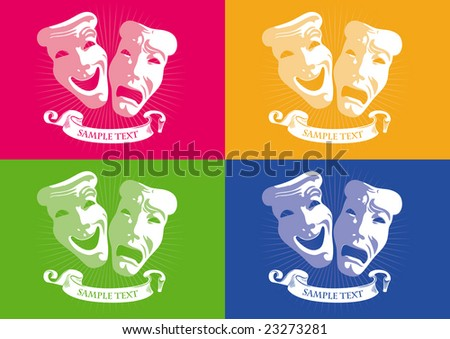 Mask Theater Vector - stock vector