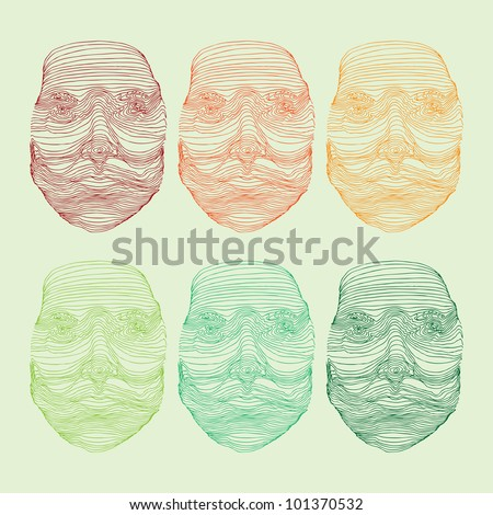 mask variations - stock vector