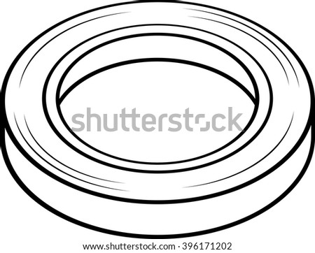 masking tape roll - stock vector