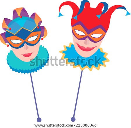 masks - stock vector