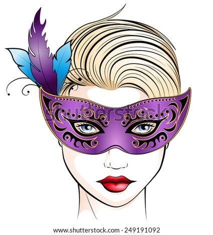 masquerade - stock vector
