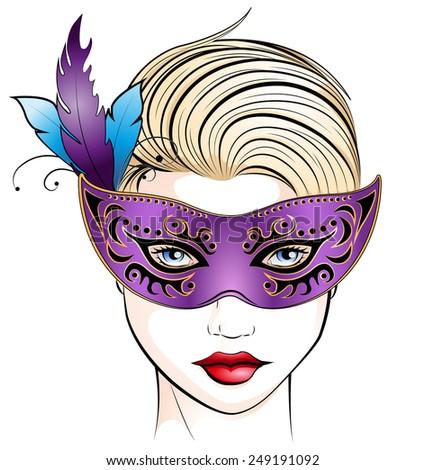 masquerade - stock vector