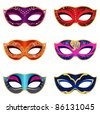 Masquerade party masks - stock