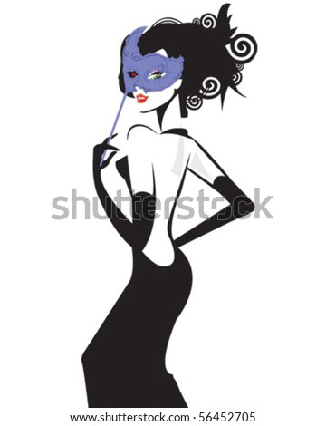 Masquerade Woman - stock vector