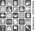 Mass Media Icons - stock photo