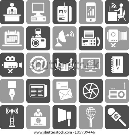 Mass Media Icons - stock vector