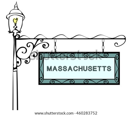 Massachusetts retro pointer lamppost.