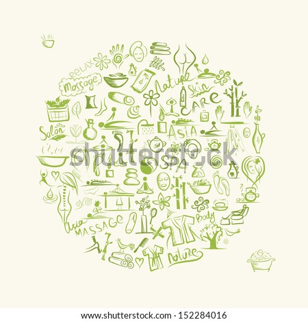 Massage and spa concept, background for your design - stock vector