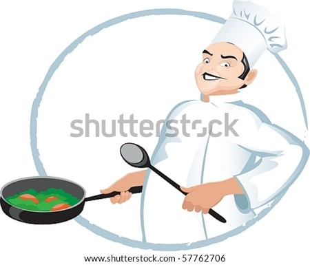 master cooking - stock vector