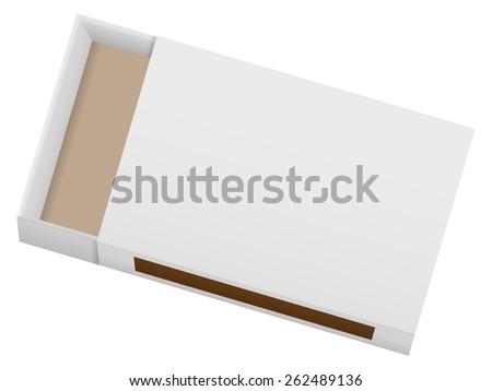 Matchbox on a white background. Vector illustration. - stock vector