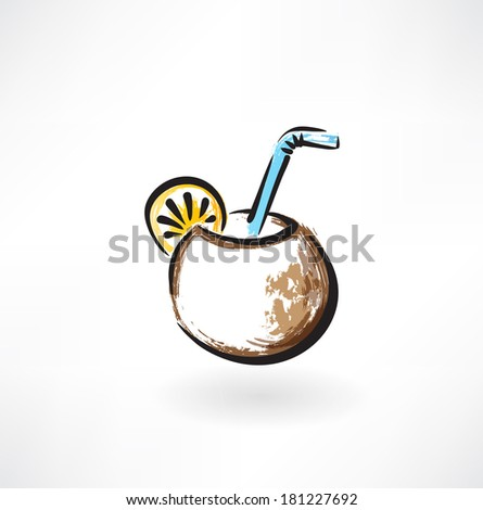 mate tea grunge icon - stock vector