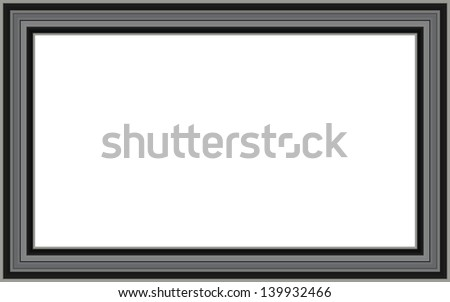Mate white frame - stock vector