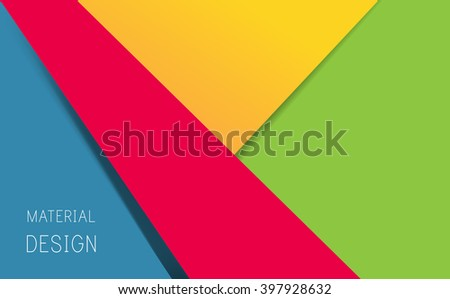 Material design background - stock vector