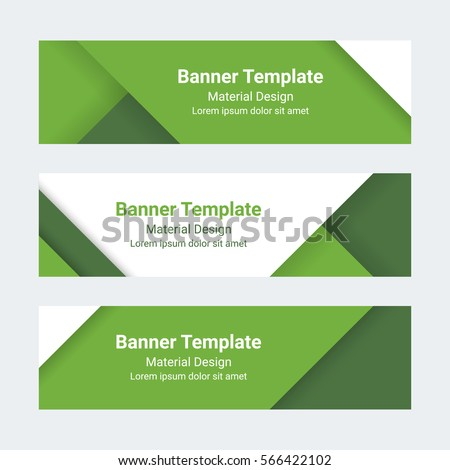 material design banners set modern colorful stock vector 566422102