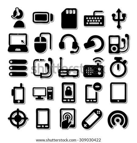Material  Devices icon Set