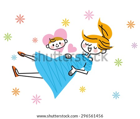 Maternity illustration - stock vector