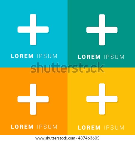 Math Four Color Material Designed Icon Stock Photo (Photo, Vector ...
