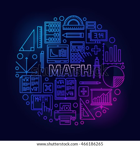 math round bright symbol vector colorful stock vector royalty free