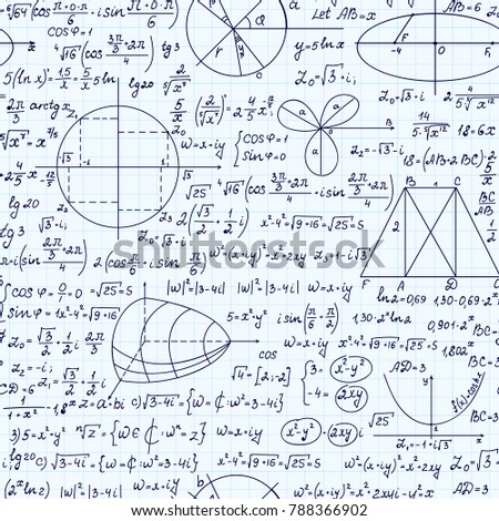 Math Scientific Vector Seamless Pattern Geometry Stock Vector HD ...
