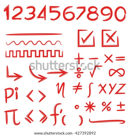 math signs and numbers