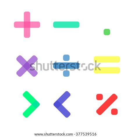 Math symbol - stock vector