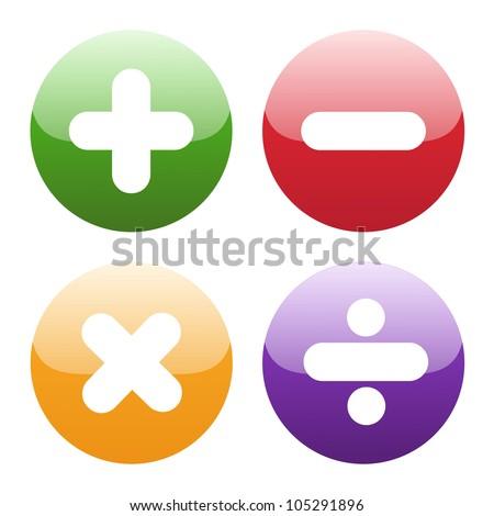 math symbols on white background - stock vector