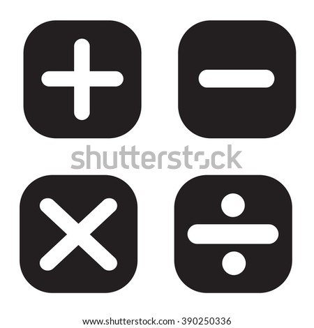 Math symbols, Vector illustration