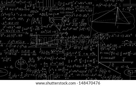 Mathematical seamless pattern. You can use any color of background - stock vector