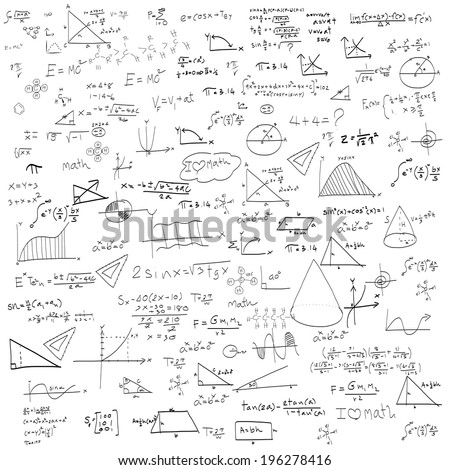 Maths seamless pattern. And also includes - stock vector