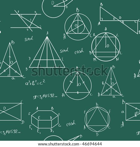 Maths seamless pattern. Tile for endless background