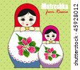 Matreshka - dolls from Russia - stock vector