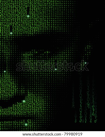 matrix background - stock vector