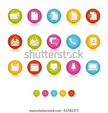 Matte Circle Icons - Office and Business. Adobe Illustrator Vector File EPS 8 for multiple applications. See more... - stock vector