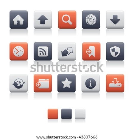 Matte Square - Web and Internet Soft. Adobe Illustrator EPS 8. - stock vector