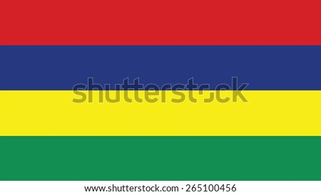 mauritius Flag for Independence Day and infographic Vector illustration. - stock vector