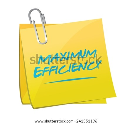 maximum efficiency post illustration design over a white background - stock vector