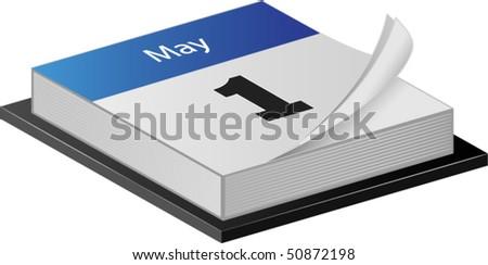 May calender - stock vector