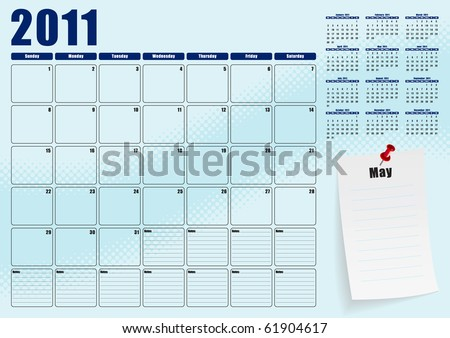 May desk planner for 2011
