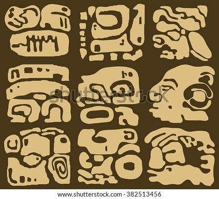 Maya and Inca designs tribal - stock vector