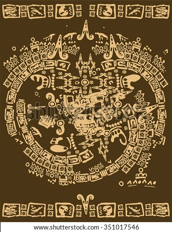 Maya and Inca pattern tribal - stock vector