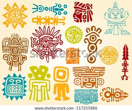 Maya designs - stock vector