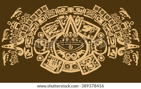 Maya  pattern tribal - stock vector