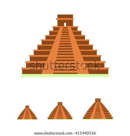 Maya pyramid icon - stock vector