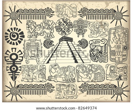 Maya set 2 - stock vector