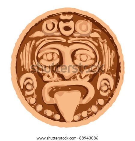 Mayan calendar. - stock vector