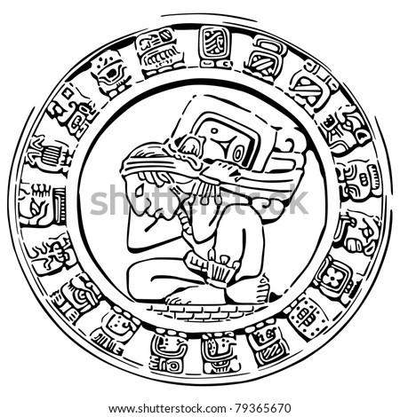 Mayan Art Coloring Pages also Warrior Mayan Art Symbols further Maya ...