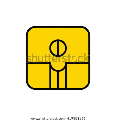 Mayan calendar symbol. Solar seal icon. Solar kin vector illustration. Dreamspell Mayan calendar. Yellow Self-Existing Seed  - stock vector