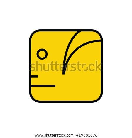Mayan calendar symbol. Solar seal icon. Solar kin vector illustration. Dreamspell Mayan calendar. Yellow Crystal Human - stock vector
