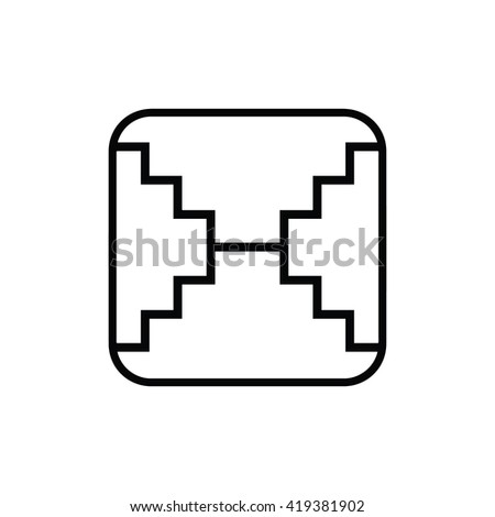 Mayan calendar symbol. Solar seal icon. Solar kin vector illustration. Dreamspell Mayan calendar. White Overtone Mirror - stock vector