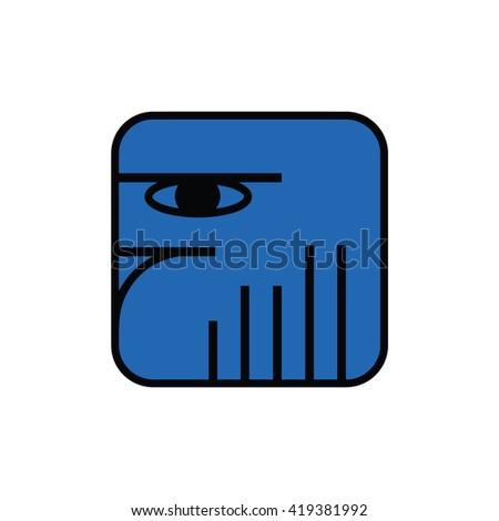 Mayan calendar symbol. Solar seal icon. Solar kin vector illustration. Dreamspell Mayan calendar. Blue Lunar Eagle - stock vector